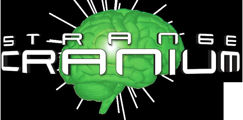 Strange Cranium logo - a green brain
